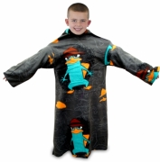 Phineas and Ferb 'Agent' Cosy Wrap Blanket Sleeved Fleece