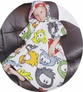 Club Penguin Fleece Poncho Towel