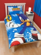 Sonic The Hedgehog 'Spin' Panel Single Bed Duvet Quilt Cover Set