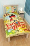 Disney Jake and The Never Land Pirates 'Treasure' Reversible Panel Single Bed Duvet Quilt Cover Set