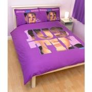 Justin Bieber 'Autograph' Panel Double Bed Duvet Quilt Cover Set