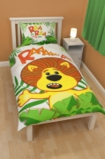 Raa The Noisy Lion 'Jungle' Panel Single Bed Duvet Quilt Cover Set