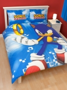 Sonic The Hedgehog 'Spin' Panel Double Bed Duvet Quilt Cover Set