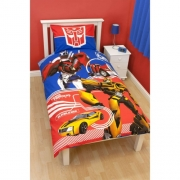 Transformers 'Autobots' Panel Single Bed Duvet Quilt Cover Set