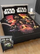 Star Wars 'Saga' Reversible Panel Double Bed Duvet Quilt Cover Set