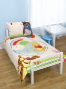 Disney Winnie The Pooh 'Classic' Panel Junior Cot Bed Duvet Quilt Cover Set