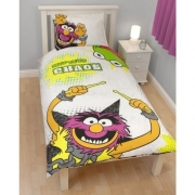The Muppets 'Animal' Panel Single Bed Duvet Quilt Cover Set