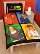 Jls 'Jukebox' Panel Single Bed Duvet Quilt Cover Set