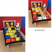 Bart Simpson 'Boys' Reversible Panel Single Bed Duvet Quilt Cover Set