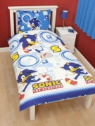 Sonic The Hedgehog 'Spin' Super Soft Rotary Single Bed Duvet Quilt Cover Set