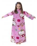 Hello Kitty 'Folk' Cosy Wrap Blanket Sleeved Fleece