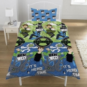 Ben 10 Hero Rotary Single Bed Duvet Quilt Cover Set