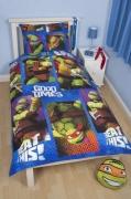 Teenage Mutant Ninja Turtles 'Dudes' Reversible Rotary Single Bed Duvet Quilt Cover Set