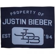 Justin Bieber 'Stars' Panel Fleece Blanket Throw