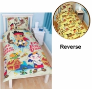 Disney Jake and The Neverland Pirates 'Treasure' Reversible Rotary Single Bed Duvet Quilt Cover Set