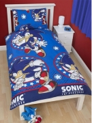 Sonic The Hedgehog 'Sprint' Rotary Single Bed Duvet Quilt Cover Set