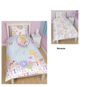 Disney Fairies 'Cherish' Reversible Rotary Single Bed Duvet Quilt Cover Set