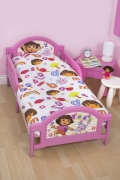 Dora The Explorer 'Alphabet' 4pc Set Bundle Rotary Junior Cot Bed Duvet Quilt Cover