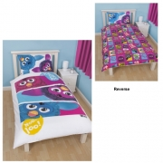 Furby 'Furbish' Reversible Panel Single Bed Duvet Quilt Cover Set
