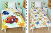 Disney Finding Nemo 'Bubbles' Reversible Rotary Single Bed Duvet Quilt Cover Set
