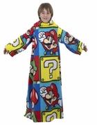 Nintendo Super Mario 'Brothers' Cosy Wrap Blanket Sleeved Fleece
