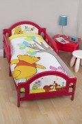 Disney Winnie The Pooh 'Forest' Panel Junior Cot Bed Duvet Quilt Cover Set