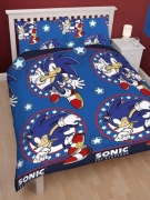 Sonic The Hedgehog 'Sprint' Rotary Double Bed Duvet Quilt Cover Set