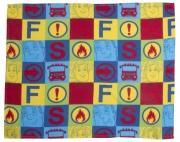 Fireman Sam 'Duty' Rotary Fleece Blanket Throw