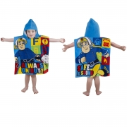 Fireman Sam Duty Poncho Towel