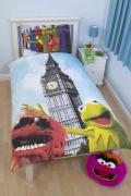 Muppets 'Postcard' Reversible Panel Single Bed Duvet Quilt Cover Set