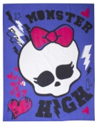Monster High Beasties Panel Fleece Blanket Throw