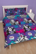 Monster High Beasties Rotary Double Bed Duvet Quilt Cover Set