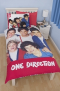 One Direction Craze Panel Single Bed Duvet Quilt Cover Set