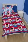 One Direction Craze Rotary Single Bed Duvet Quilt Cover Set