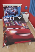 Disney Cars Neon Panel Single Bed Duvet Quilt Cover Set