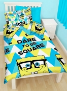 Spongebob Squarepants 'Happy' Reversible Rotary Single Bed Duvet Quilt Cover Set