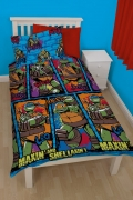 Teenage Mutant Ninja Turtles Urban Rotary Single Bed Duvet Quilt Cover Set