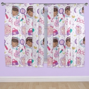 Disney Doc Mcstuffins 'Hugs' 66 X 72 inch Drop Curtain Pair