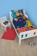 Fireman Sam 'Bravo' Panel Junior Cot Bed Duvet Quilt Cover Set