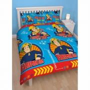 Fireman Sam 'Brave' Rotary Double Bed Duvet Quilt Cover Set