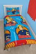Fireman Sam Brave Rotary Single Bed Duvet Quilt Cover Set