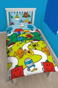 Mr. Men & Little Miss 'Numbers' Rotary Single Bed Duvet Quilt Cover Set