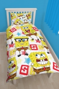 Spongebob Squarepants 'Legend' Rotary Single Bed Duvet Quilt Cover Set