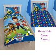 Paw Patrol Let' S Roll Reversible Panel Single Bed Duvet Quilt Cover Set