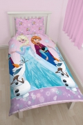 Disney Frozen Anna & Elsa 'Magic' Rotary Single Bed Duvet Quilt Cover Set