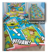 Disney Toy Story 'Yeehaw' Reversible Rotary Single Bed Duvet Quilt Cover Set