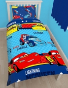 Disney Cars 'Piston' Rotary Single Bed Duvet Quilt Cover Set