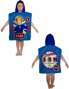 Fireman Sam 'Workshop' Poncho Towel