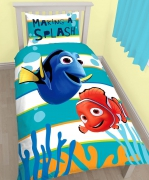 Disney Finding Nemo 'Dory' Reversible Panel Single Bed Duvet Quilt Cover Set