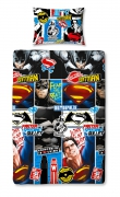 Batman vs Superman 'Clash' Rotary Single Bed Duvet Quilt Cover Set